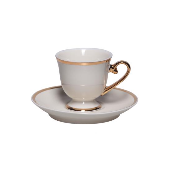 Kahve Keyfi Kahve Fincan Takımı 2'li Altın Dekor (4 parça)