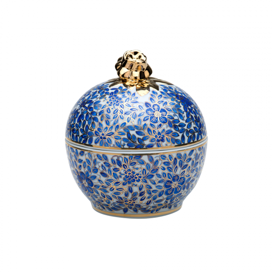 Bonboniyer Hoş Eda Altın Dekor/Mavi Dekor