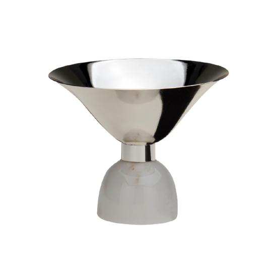 Cevher Gondol Gümüş Kaplama Beyaz Mermer