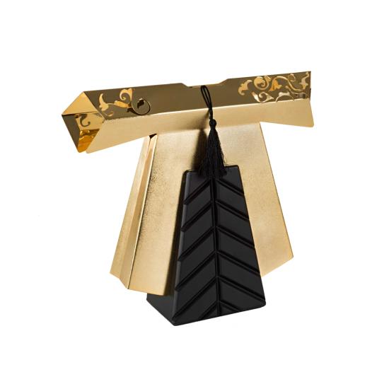 Efendi Kaftan Dekoratif Obje Büyük Boy Altın Kaplama Ahşap