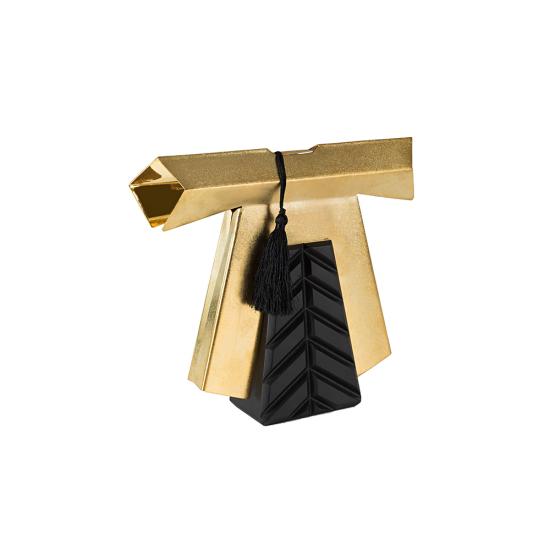 Efendi Kaftan Dekoratif Obje Küçük Boy Altın Kaplama Ahşap