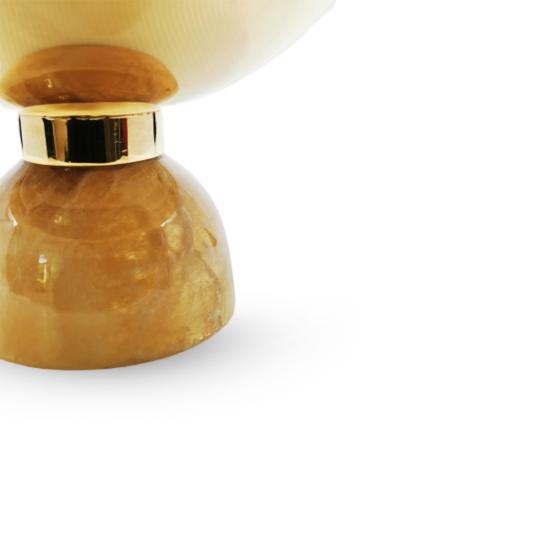 Gondol Cevher Büyük Boy Onix/Altın Kaplama