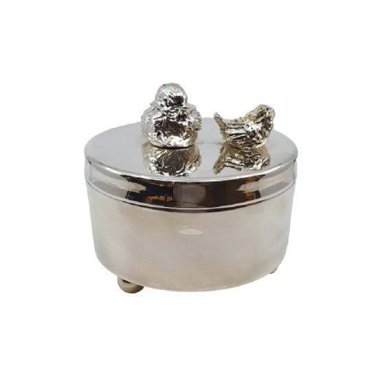 Kutu Kasır Küçük Boy 14x14x14 Gümüş Kaplama