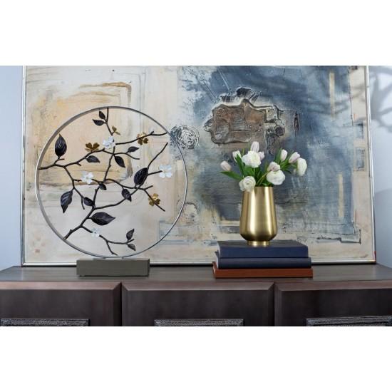Michael Aram Dogwood Dekoratif Obje 56 cm Gümüş Kaplama