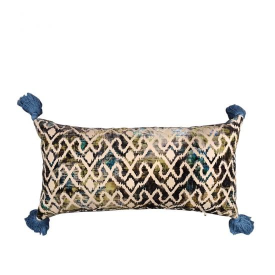 Kabartma Desenli Ponponlu Yastık
