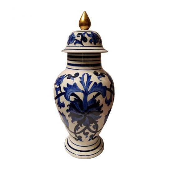 Şah Küp Fes Kapak Mavi Desenli