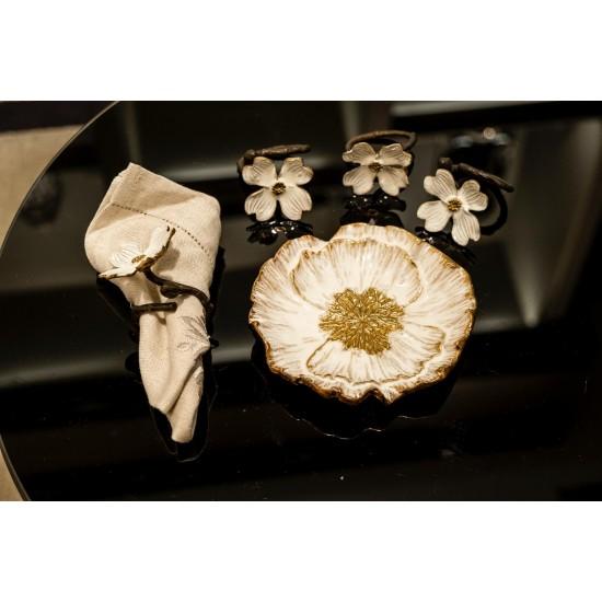 Michael Aram Anemone Dekoratif Obje Altın Dekor