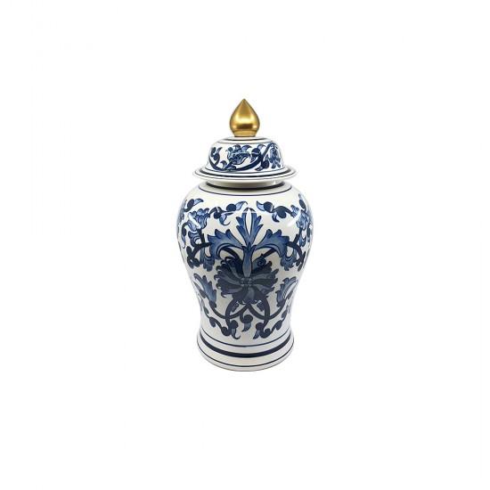 Bleu Blanc Japon Desen Şah Küp
