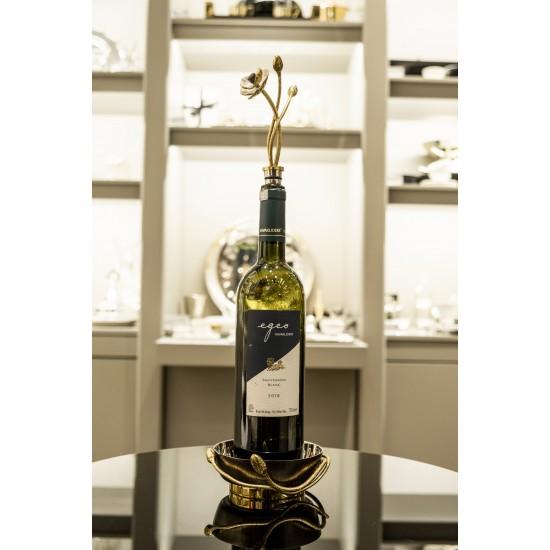 Michael Aram Şarap Tutucu ve Şişe Tıpası Seti Anemone