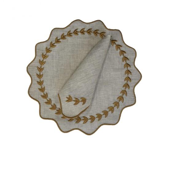 Yuvarlak Altın Yapraklı Model Amerikan Servisi 2'li