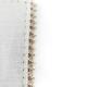 Bardak Altlığı/Kokteyl Peçetesi Cappodoccia Keten 6lı Beyaz