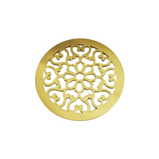Rosas Coaster Set For 4 - Mat Gold Plated