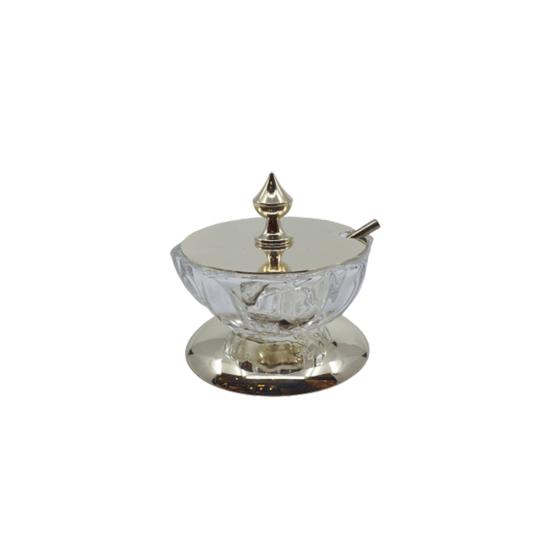 Havyarlık Kapaklı Gümüş Kaplama/Şeffaf Cam