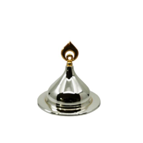 Lokumluk Katre Orta Boy Gümüş Kaplama Altın Dekor