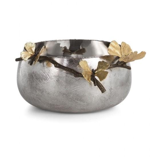 Michael Aram Butterfly Ginkgo Kase Altın ve Gümüş Kaplama