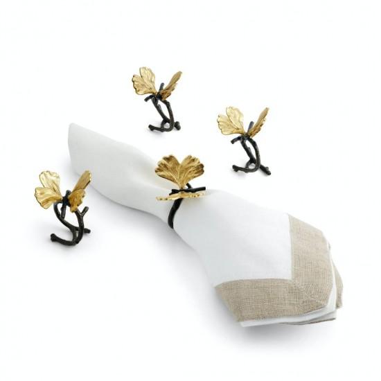 Michael Aram Butterfly Ginkgo Peçete Halkası 4lü Altın Kaplama