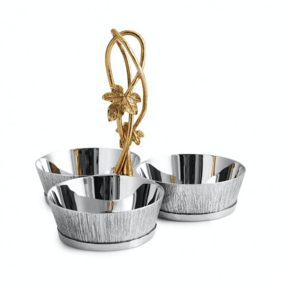 Michael Aram Ivy & Oak 3'lü Çerezlik Gümüş Kaplama