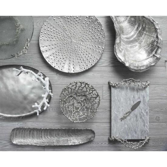 Michael Aram Ocean Reef Bıçaklı Peynir Tepsisi Gümüş Kaplama