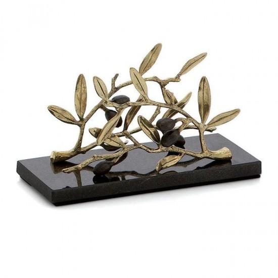 Michael Aram Olive Peçetelik Altın Kaplama ve Gümüş Mermer