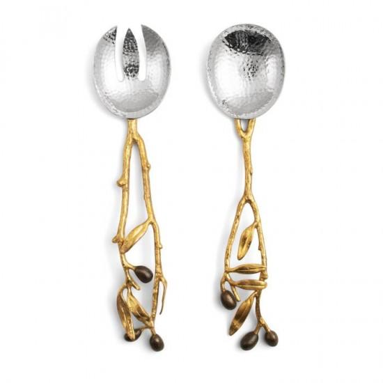 Michael Aram Olive Servis Seti Altın ve Gümüş Kaplama