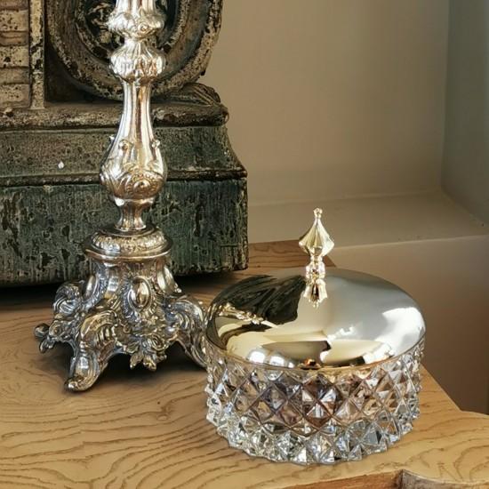 Sırça Köşk Şekerlik Küçük Boy Gümüş Kaplama