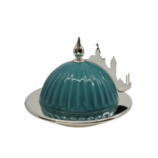 Sahan Kubbe Küçük Boy Gümüş Kaplama İstanbul Silüeti