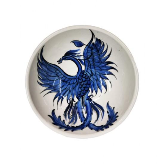 Tabak Anka Kuşu Mavi/Beyaz