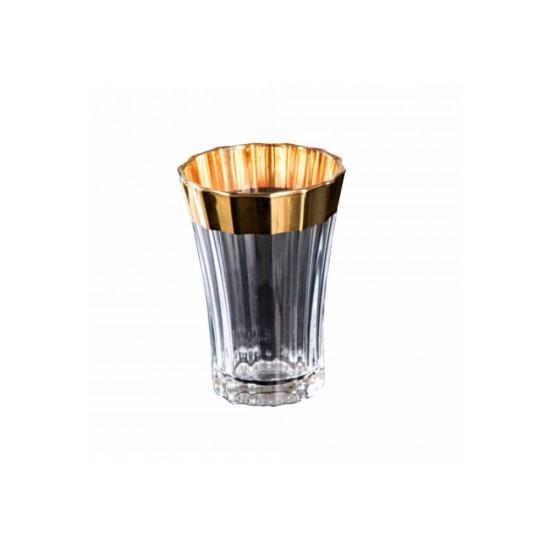 Zer Bardak Takımı 2'li Altın Dekor Şeffaf Cam