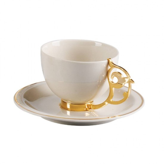 Secret Tea Cup Set For 2 Gold Plated