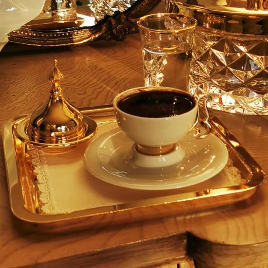 Zadegan Kahve Keyifliği Takımı Altın Kaplama (6 parça)