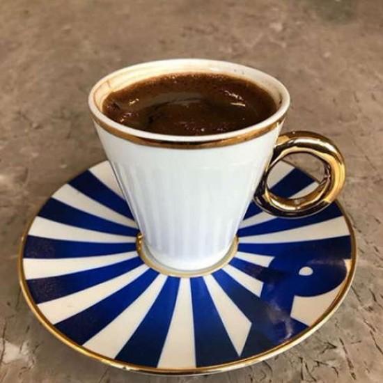 Zencerek Kahve Fincanı Takımı 2'li Altın Dekor (4 parça)