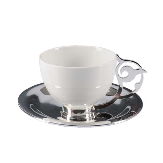 Nihan Çay Fincanı Takımı 2'li Gümüş Kaplama