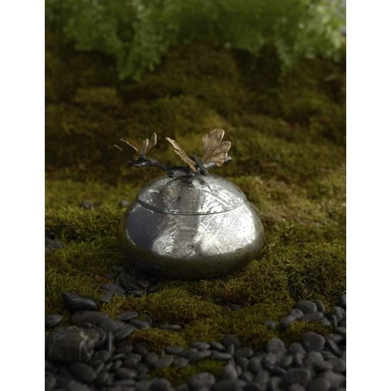 Kutu Butterfly Ginkgo Kapaklı Gümüş ve Altın Kaplama