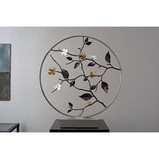 Dekoratif Obje Dogwood 56cm Gümüş Kaplama