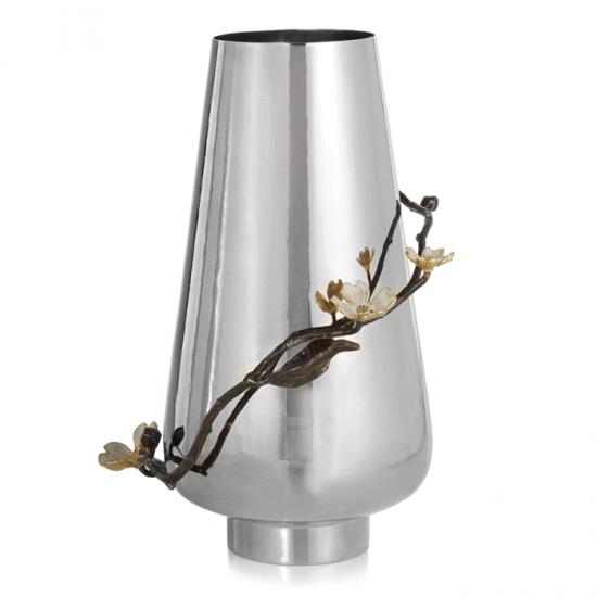 Vazo Dogwood Gümüş ve Altın Kaplama
