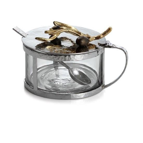 Çeşni Kabı Kaşıklı Olive Gümüş Kaplama