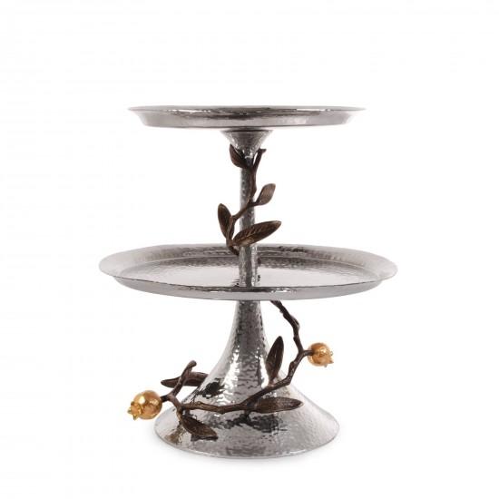 Çerezlik Etagere Pomegranate Gümüş Kaplama