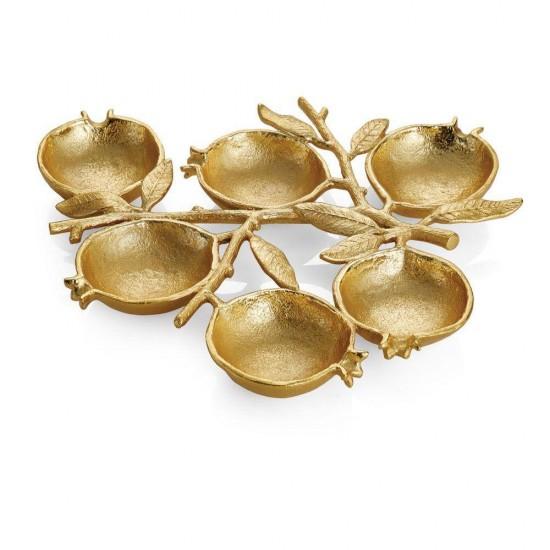 Çerezlik Pomegranate 6'lı Altın Kaplama