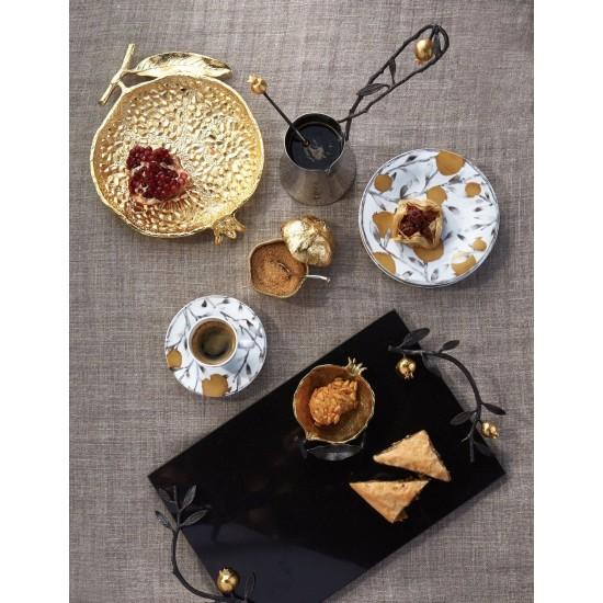 Cezve ve Pomegranate Kaşık Gümüş Kaplama