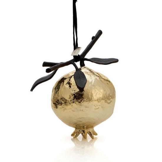 Dekoratif Obje Pomegranate Altın Kaplama