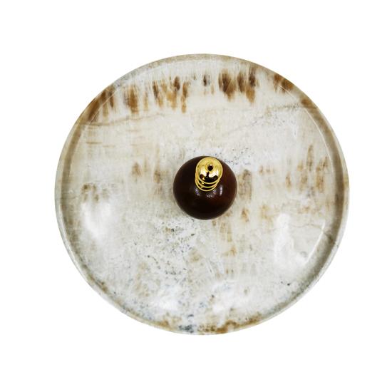 Peynir Tabağı Cevher Orta Boy 32cm Altın Kaplama Oniks